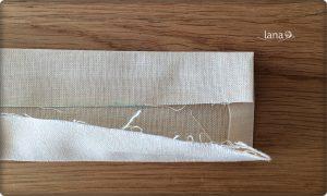 Prekladanie pásika ak nepoužijete stuhu alebo šikmý prúžok